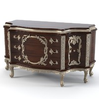 Jumbo classic dresser sideboard buffet chest of drawers  baroque wood caving carved rococo luxury
